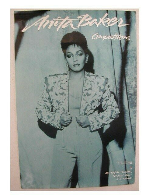 Anita Baker Poster Compositions Blue and White Promo