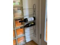 Wall mounted wine rack Chrome metal
