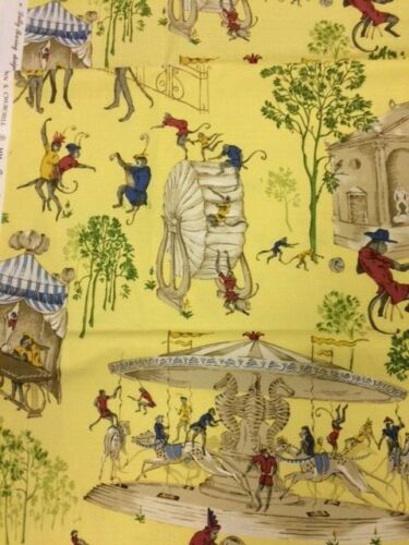 BRUNSCHWIG & FILS FABRIC TRIBUTE TO JOHN S CHURCHILL - MONKEY MAYHEM