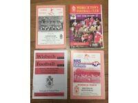 4 1990'S WISBECH TOWN FOOTBALL PROGRAMMES