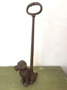 NW113 Vintage Style Cast Iron Dog Door Stop Puppy