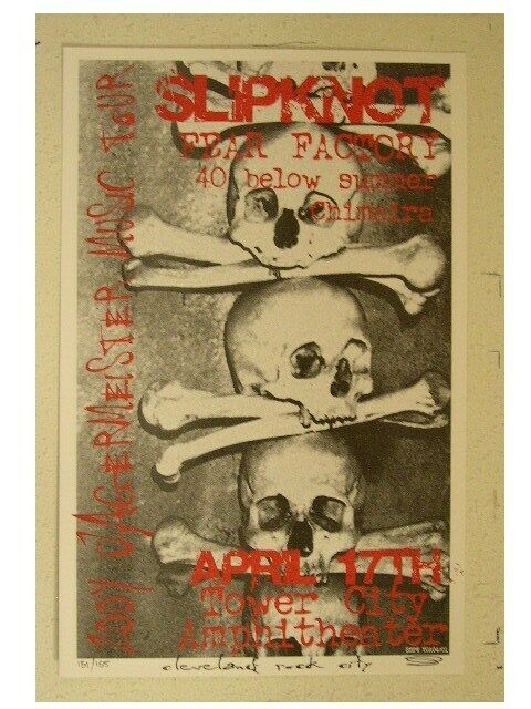 Slipknot Fear Factory Poster Handbill Slip Knot Skull
