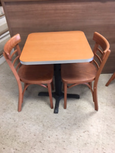 Cafeteria style table and chairs