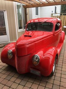 1938 Ford Deluxe Red 2 Door Coupe - Tubbed