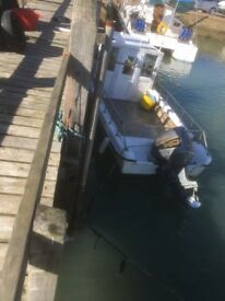 Dory - 20ft. 140 hp (recon) outboard; gps; fish finder; VHF; v. fast great fishing boat; Shoreham