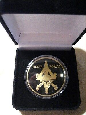 U S Armee Delta Force Challenge Coin W / Präsentationsbox