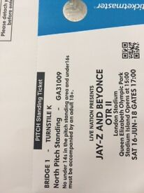 LAST CHANCE! Beyonce and JayZ Tickets Saturday June 16- Front of Stage!! Hard Copies