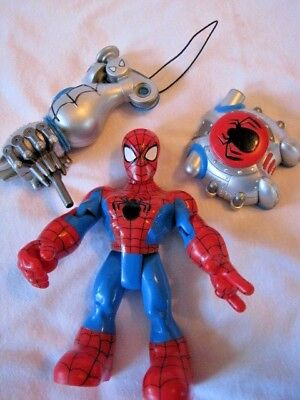 Vtg Fisher Price Rescue Heroes Action Figure Spiderman w/ Accessory
