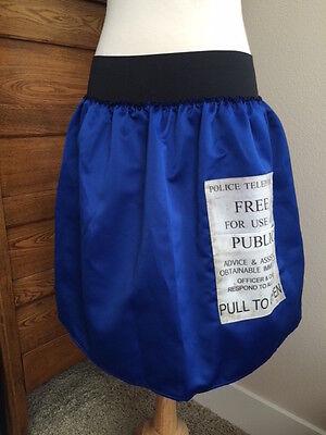 Dr. Who Tardis blue skirt handmade Halloween costume Cosplay size sm - Tardis Halloween Costume
