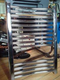 Chrome Towel Warmer/ Radiator 500mm wide x 700mm high