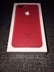 iPhone 7 plus Red 128gb Brand New Unlocked