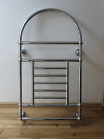 Traditional chrome plated towel rail / radiator, unused
