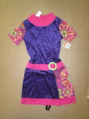 Girls Disco Dress (Girls 70'S FUNKY DISCO DRESS  Halloween Costume sz L Lg)