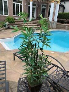 Arbuste vert en soie et bamboo
