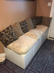 Entrance bench with cupboards $140
