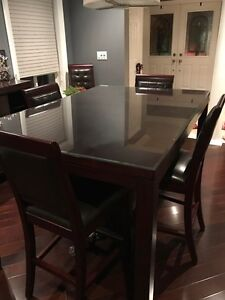 EUC - Table and 6 chairs for sale (pub style) - 1500 OBO