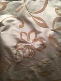 Curtains 2 pairs - Spanish raw silk duck egg blue in good as new condition.