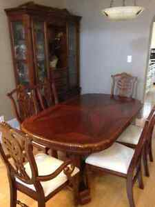 solid wood, handcrafted dining table set Kitchener / Waterloo Kitchener Area image 1