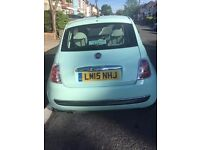 fiat 500, lounge, mint green 2015 (start and stop)