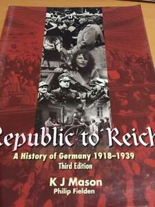 Republic to Reich A History of Germany Hillarys Joondalup Area Preview