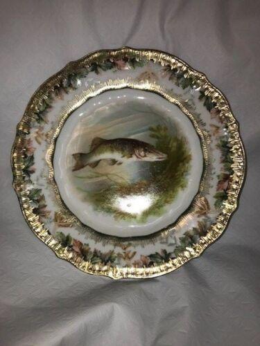 "Carl Tielsch of Germany Fish Plate 8 1/2 "" Diameter"
