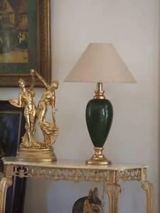 gr3 table desc lamp ceramic gold   old vintage look Rhodes Canada Bay Area Preview
