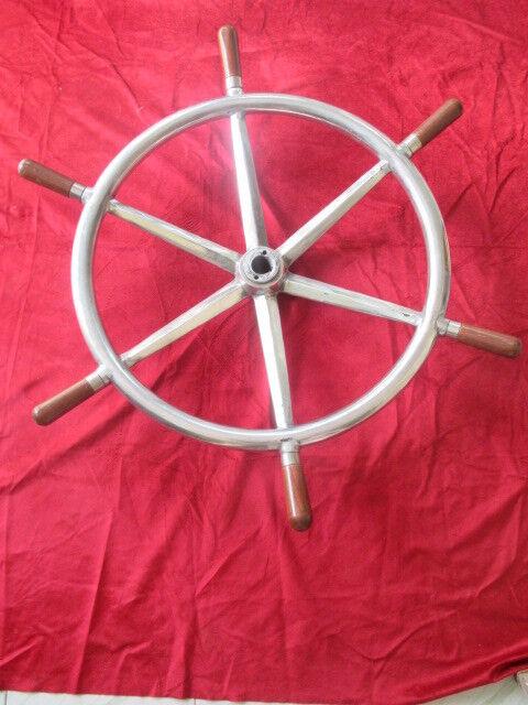 Ship Wheel Aluminum Steering Antique Marine Nautical