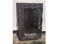 Wooden heavy mirror 92x60 cm, £15
