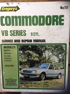 Commodore VB 6cyl  *****1980 Gregory's Workshop Manual. Ocean Grove Outer Geelong Preview
