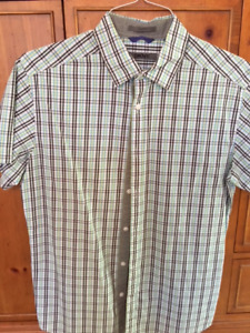 Men's DKNY  check/plaid summer cotton shirt Size M