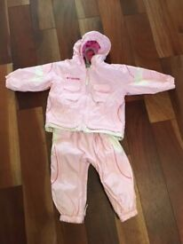 Girls Columbia Pink Snow Suit size 2T