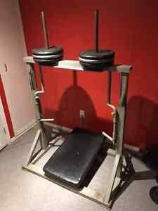 Leg Press Machine - older style but solid