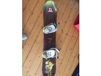 RIDE Snowboard 156cm with Burton bindings and RC Sport snowboard bag