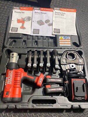 Ridgid Rp 34043358propress Tool Kit With 12-2 Jaws.advanced Lithium Charger