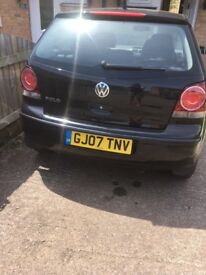vw polo 1.2.S. fully loaded in black.any inspection welcome.new mot on purchase