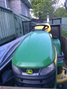 "John Deere Lawn Tractor X300 Series 42"" Deck and 44"" Blower"