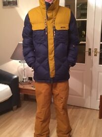 Wed'ze Ski/Snowboard Mens Size Medium Jacket and Salopettes UltraWarm Collection Great Condition