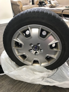 4 -215/55 R16's VOLVO-S series Tires, RIMS, HUBCAPS