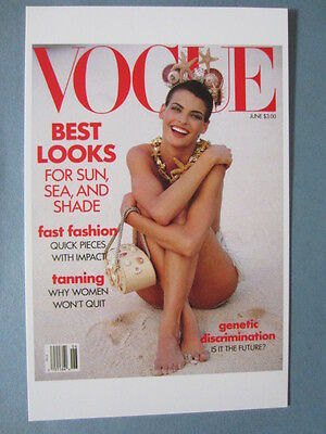 MINT POSTCARD VOGUE COVER PATRICK DEMARCHELIER JUNE 1990