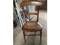 Cane Victorian / Edwardian bedroom chair