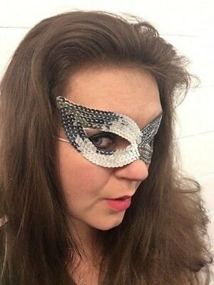 Silver Sequin Eye Mask Masquerade Women Girls Face Mask For Party Fancy - Masquerade Dresses For Girls