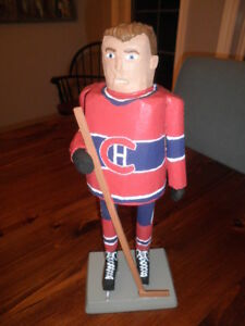 Montreal Canadians Folk Art Wood Carving