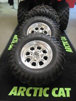 Full set studded ATV Tires and Rims