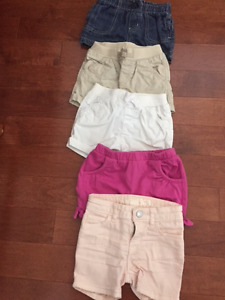 5 Pairs of Girls Shorts - Size 2T