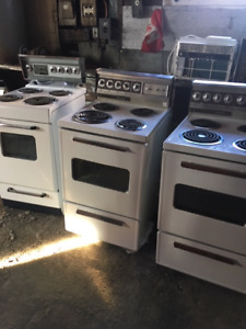 Six vintage  21.5 inch and 24 inch clean stoves 50.00 each