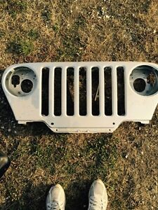 MINT condition jeep tj steel front grill