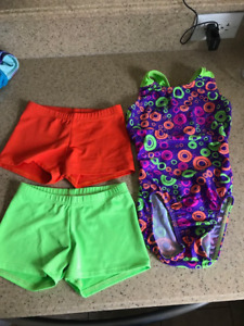 Gymnastic suit and matching shorts