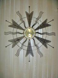 Vintage Starburst/Sunburst Mid Century Welby Wall Clock Key Wind 31
