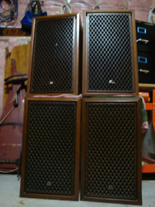 4 EXCELLENT CONDITION SANSUI SPEAKERS MADE IN JAPAN - ONE OWNER-