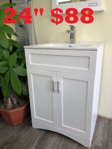 "BATHROOM VANITY   24"" $88.     30"" $189.    60""DOUBLE SINKS $799"